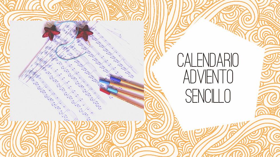 Calendario de adviento sencillo