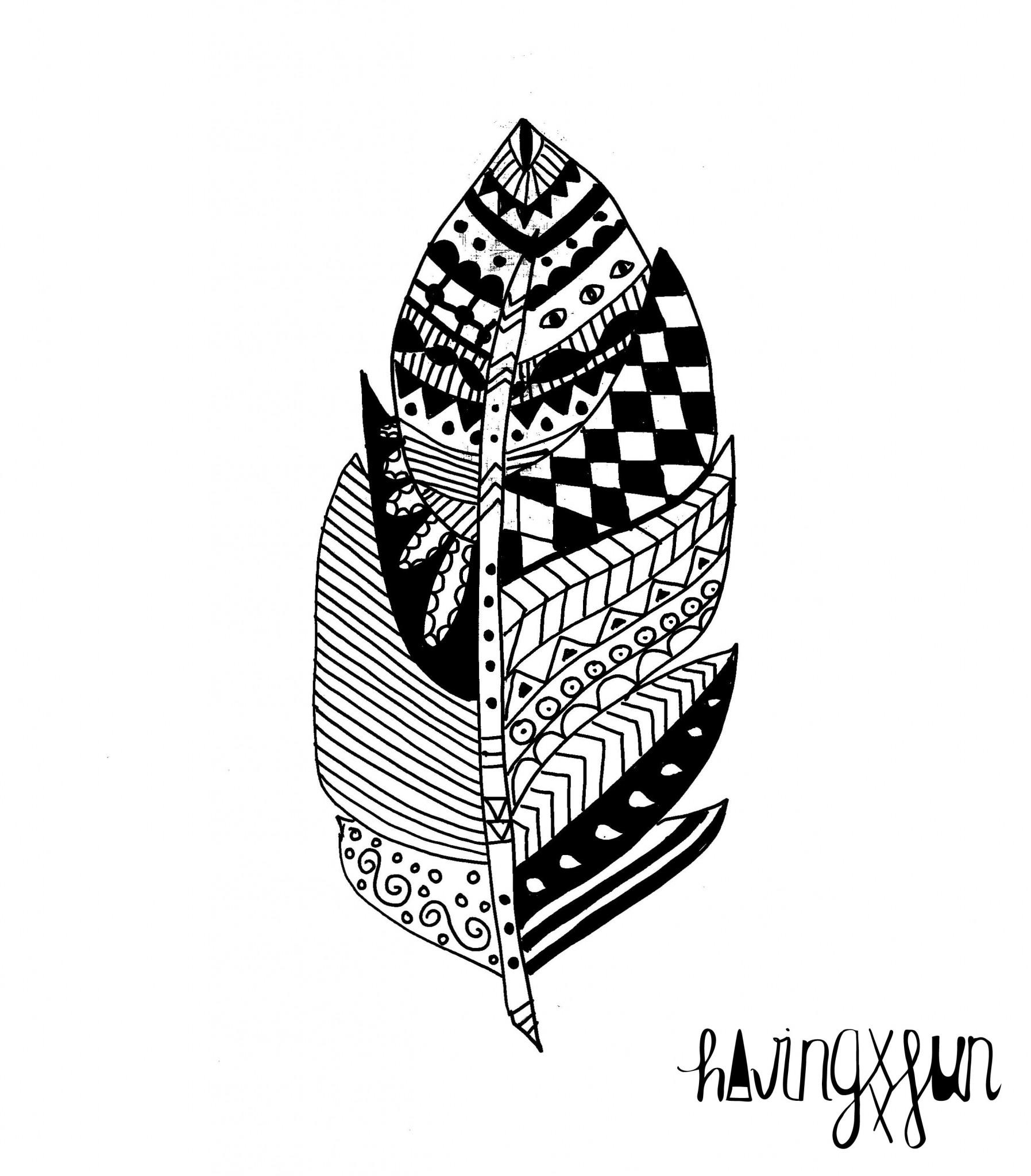 doodle pluma