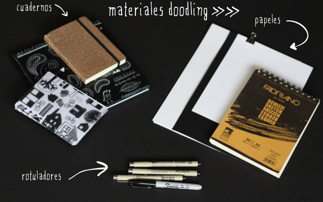 Materiales doodling para despertar la creatividad