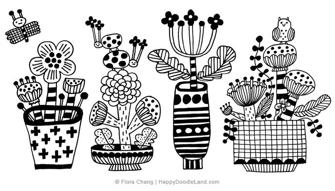 Flora Chang: Happy doodle land