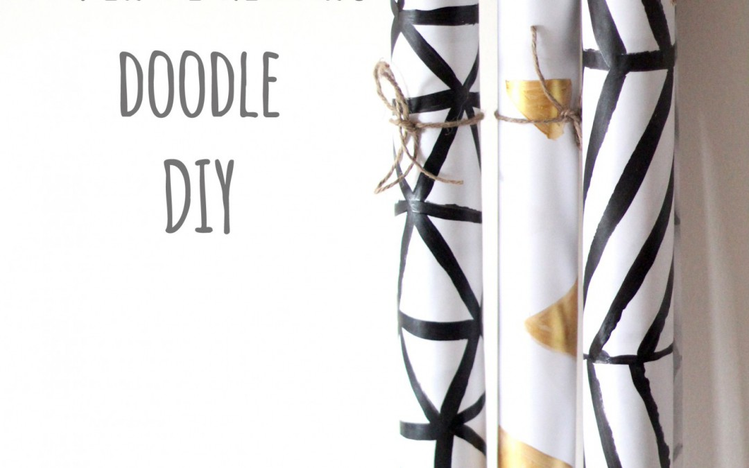 Papel de regalo doodle DIY