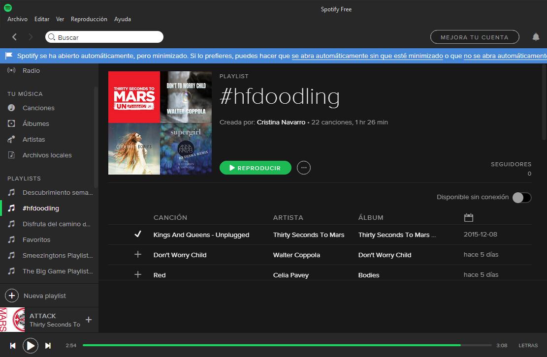 playlist #hfdoodling