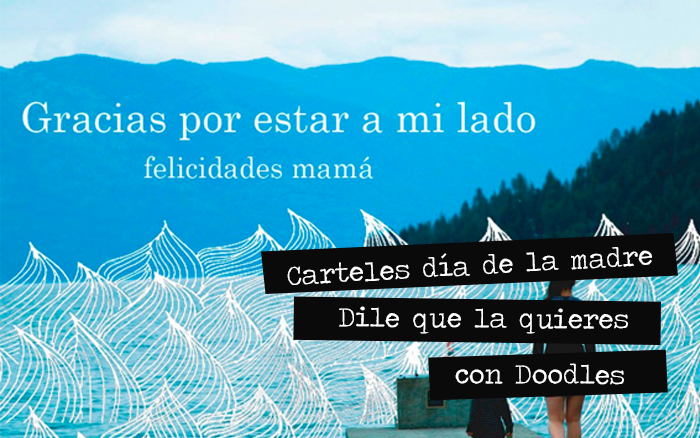 Carteles del día de la madre: dile que la quieres con doodles
