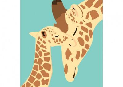 jirafa mama y baby