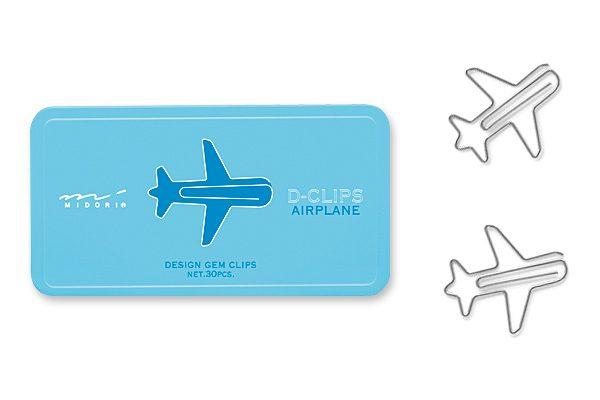 clips con forma de avión