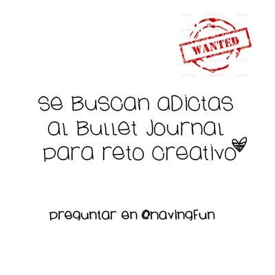 Se buscan Adictas al Bullet Journal para Reto Creativo