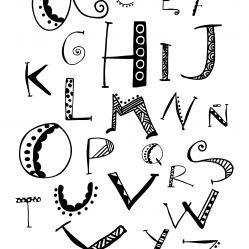 lamina abecedario doodling