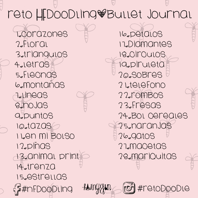 reto creativo bullet journal