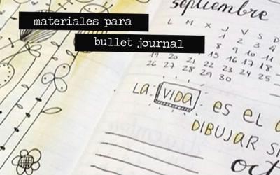 Materiales para el Bullet Journal
