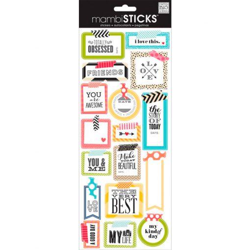 Me & My Big Ideas-Saying Stickers