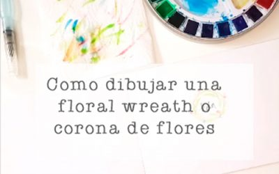 Dibujar una Floral Wreath o Corona de Flores