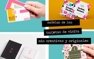 Modelos y ejemplos de las tarjetas de visita más creativas y originales